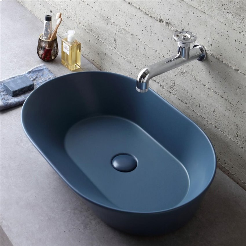 Lavandino blu WA02 Wave Ceramica Simas