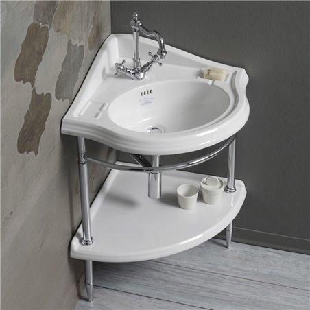 lavabo angolare AR884 con struttura in metallo 1011 Arcade Simas