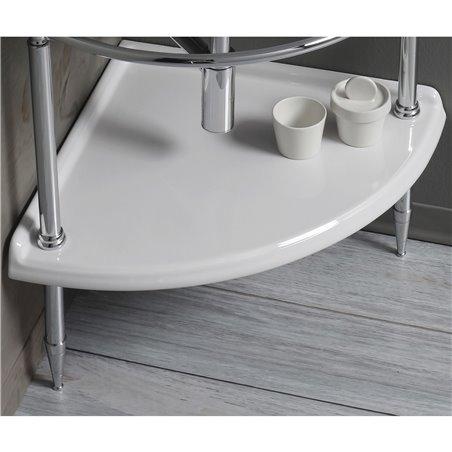 Ripiano in ceramica sotto lavabo per lavandino angolare Arcade Simas