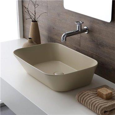 Lavabo beige Wave 04 Simas Ceramica