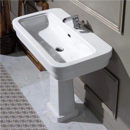 Lavabo bagno con colonna EVO11+EVO03 Evolution Ceramica Simas