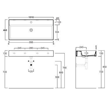lavandini sospesi bagno AG101 Agile Simas