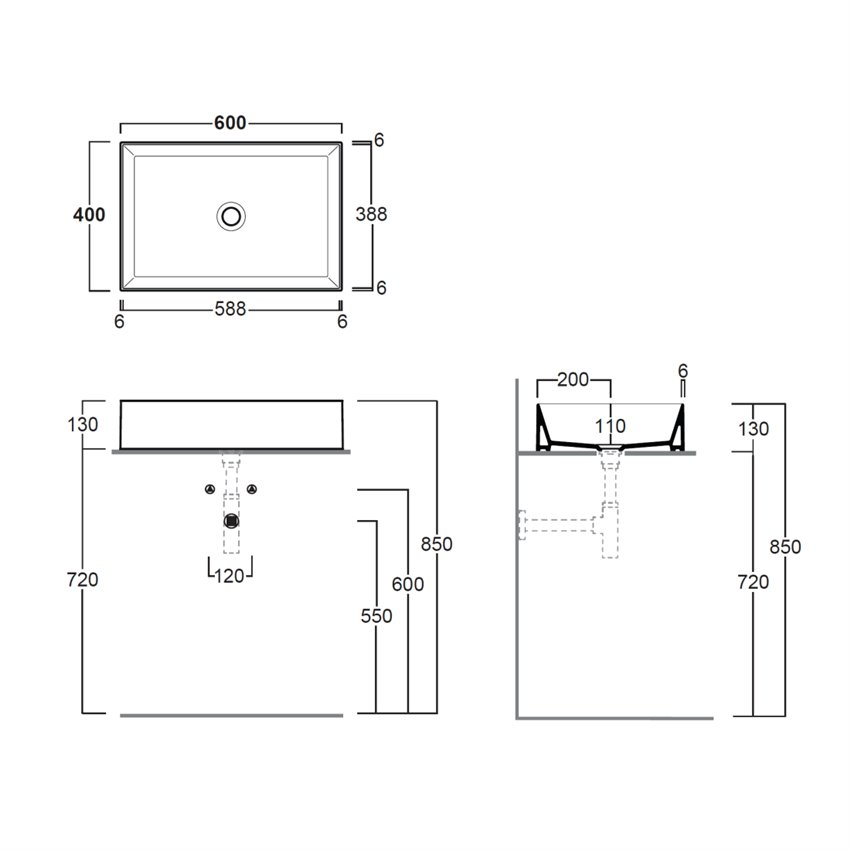 lavabi da appoggio online AG60 Agile Simas Ceramica