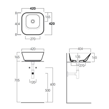 ciotola lavabo WA03 Wave Simas Ceramica
