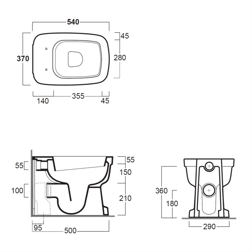 scheda tecnica sanitari EVO01 Evolution Simas Ceramica