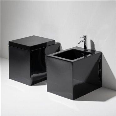 Gefrorene glänzende schwarze Sanitärkeramik FZ01 FZ04 Simas Ceramica