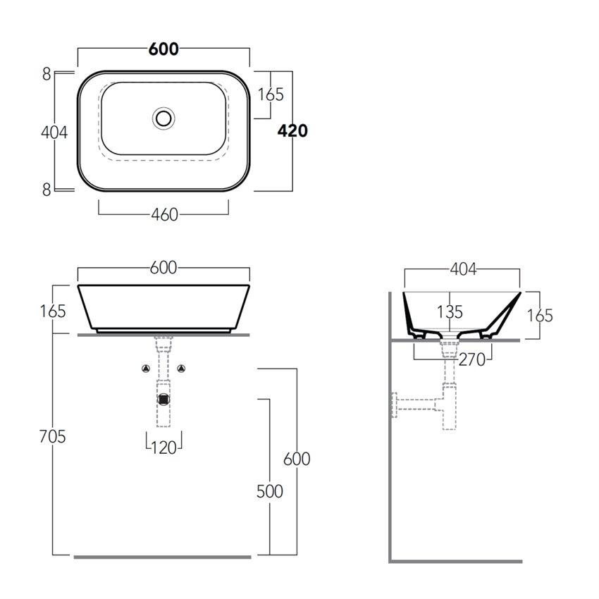 lavabo da appoggio design WA04 Wave Simas