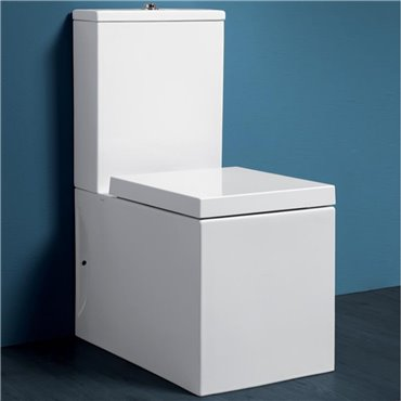 Gefrorene Simas Toilette mit integriertem Spülkasten
