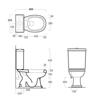 vaso con cassetta monoblocco Arcade AR821 AR822 Simas Ceramica