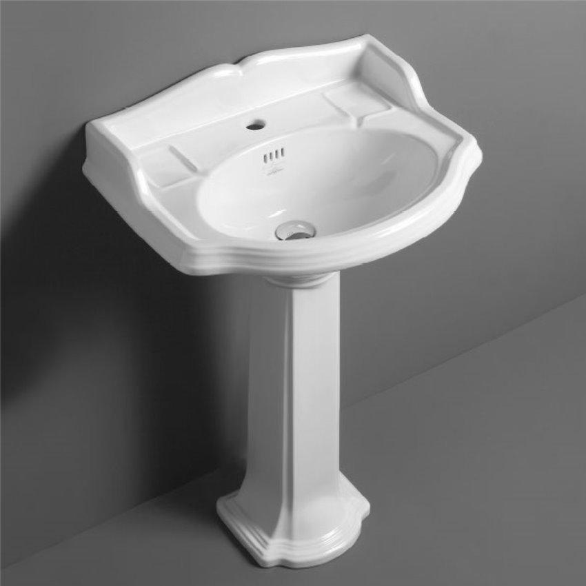 Lavandino bagno con colonna Arcade AR814+AR815 Simas