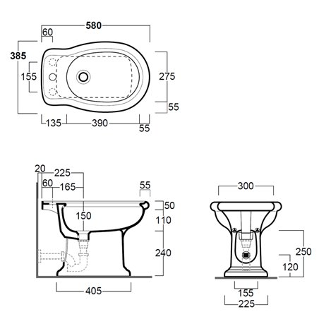 bidet bagno sanitari Lante LA04 Simas Ceramica