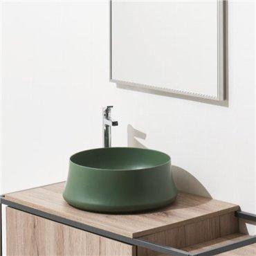 Lavabo da appoggio colorato Sharp SH02 mirto matt Simas Ceramica