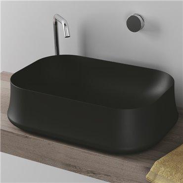 Schwarzes Aufsatzwaschbecken Sharp SH08 Simas Ceramica