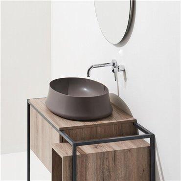 Lavabo colorato bagno Sharp 04 Simas Ceramica