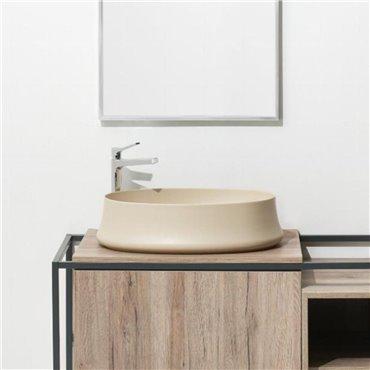 Sharp 04 beige Spüle Simas Ceramica