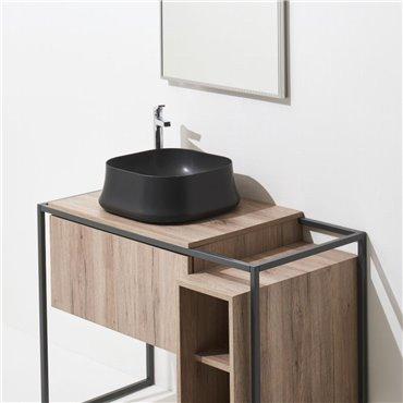Lavabo bagno nero opaco Sharp 06 Simas Ceramica