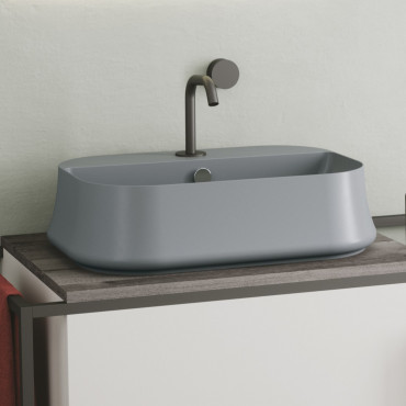 lavandino bagno grigio Sharp Ceramica Simas