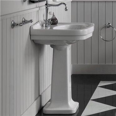 Lavabo colonna lavandini bagno vintage 68 cm Londra Simas