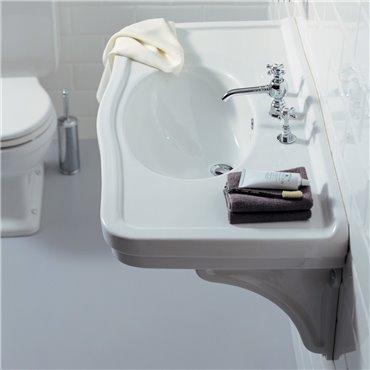 Consolle lavabo bagno classico lavandino sospeso 105 cm Londra Simas