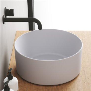 Ciotola lavabo appoggio lavandini tondi 40 cm Open Olympia Ceramica