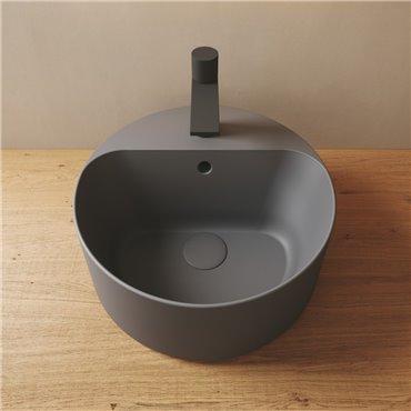 Lavandino bagno colorato lavabo tondo da appoggio 40 cm Open Olympia