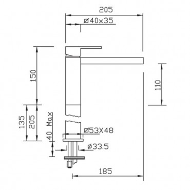 Miscelatore per lavabo Open Space 3403