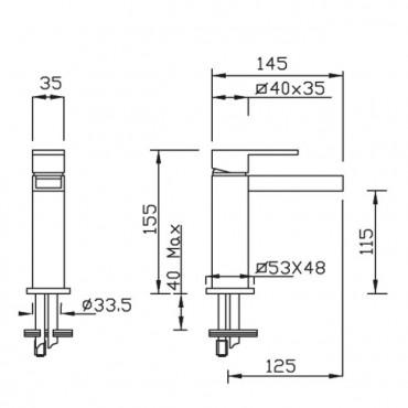 Miscelatore per lavabo Open Space 3401