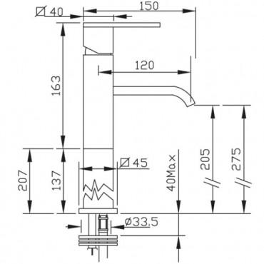 Aufsatz-Waschtischmischer Gaboli Flli Rubinetteria Klip 2802