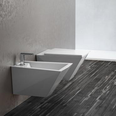 wandhängendes WC und Bidet Crystal Olympia Ceramica