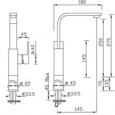 Miscelatore per lavabo New Space 3352