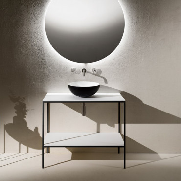 Meuble de salle de bain de style industriel