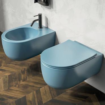 Sanitaires colorés - Toilettes colorées pour salle de bain colorée
