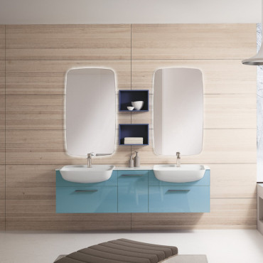 Mueble de baño doble lavabo
