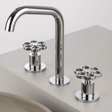 Rubinetteria bagno 3 fori prezzi - Rubinetto 3 fori lavabo online