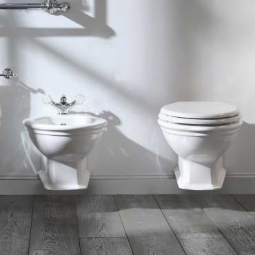 Sanitaires classiques: toilettes et bidet salle de bain classique