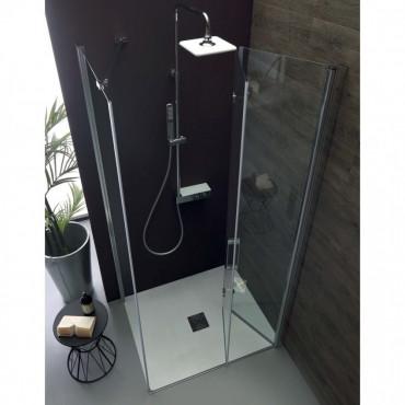 Cabine de douche d'angle avec porte pliante