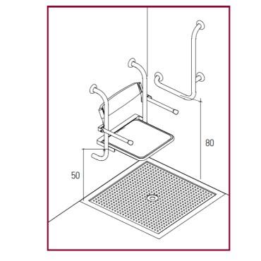 altezza sedile doccia per disabili