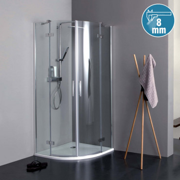 cabina de ducha con bisagras