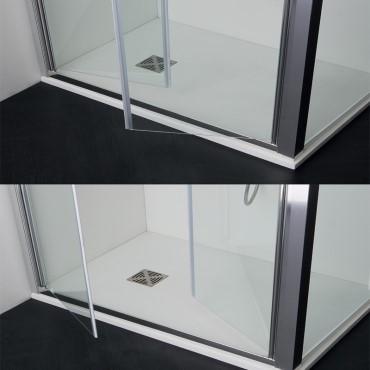 Duschkabine mit Salontüren