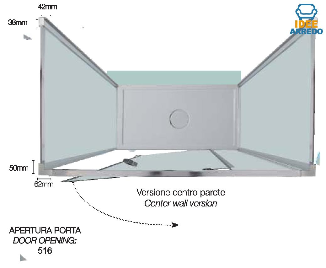 Box doccia centro parete