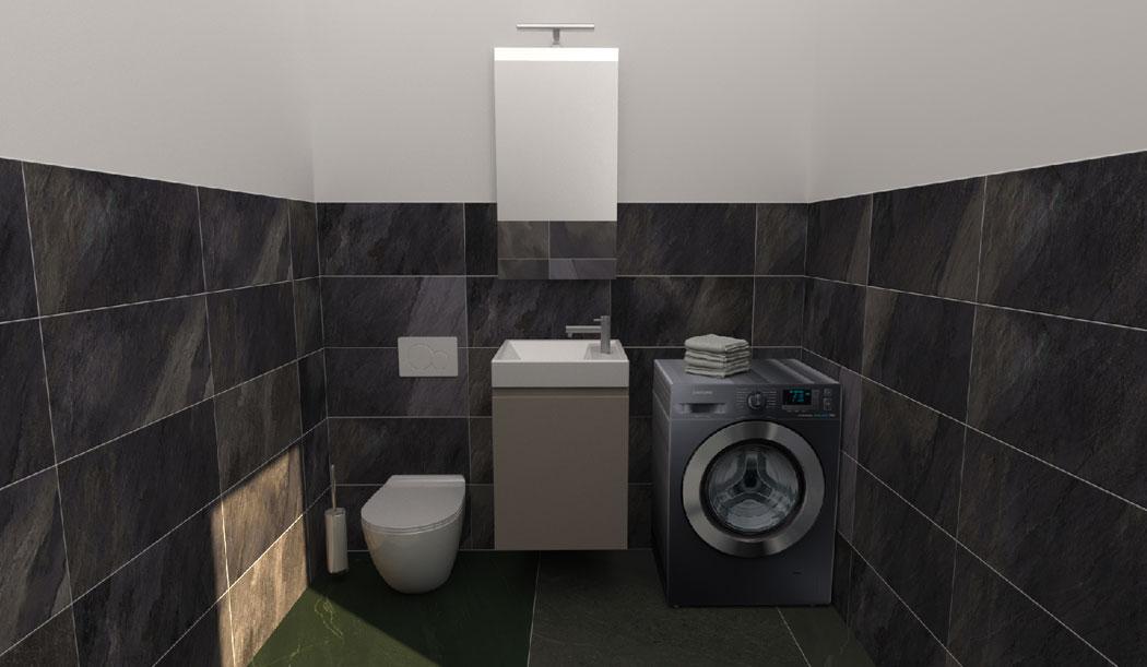 arredare bagno piccolo con lavatrice - bagno piccolo misure
