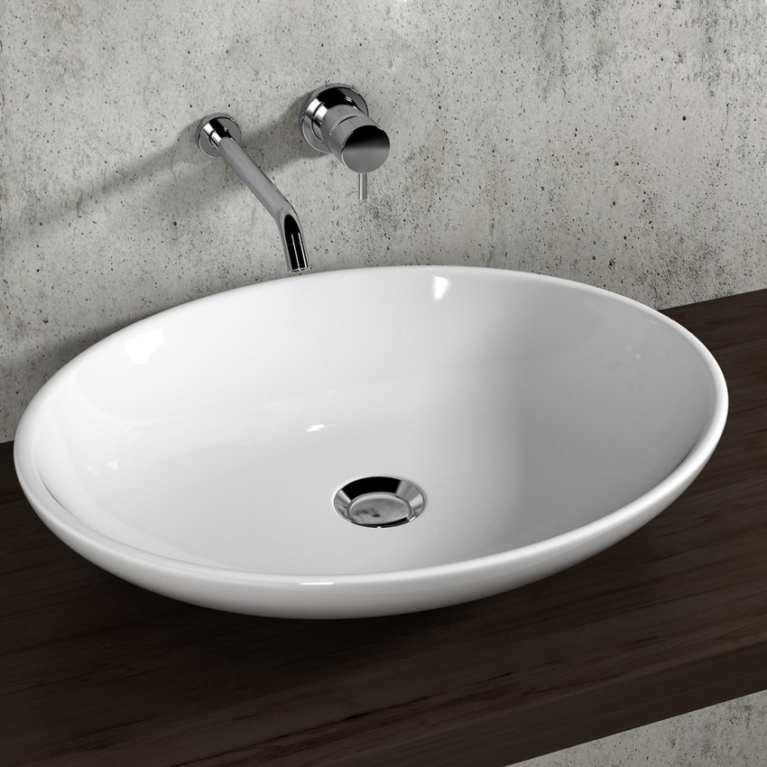 Vasque ovale selon type