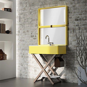 mobile bagno design giallo