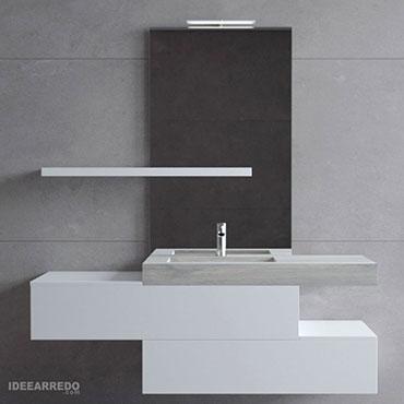mobile bagno design sospeso