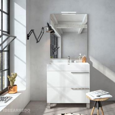mueble de baño blanco - mueble bajo lavabo para baño