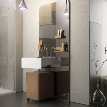 muebles de baño de madera, mueble de baño