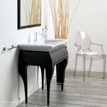 muebles de baño en el suelo