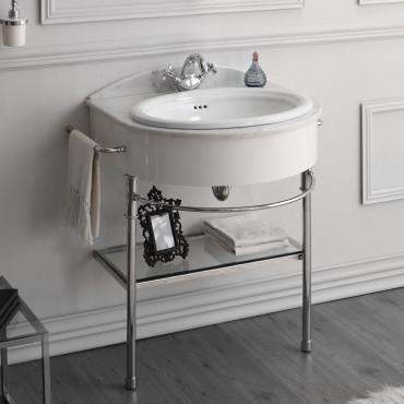 meubles de salle de bain blancs classiques