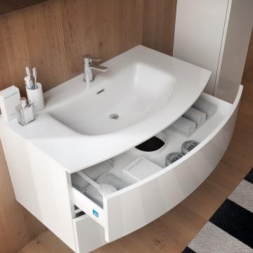 muebles de baño redondeados