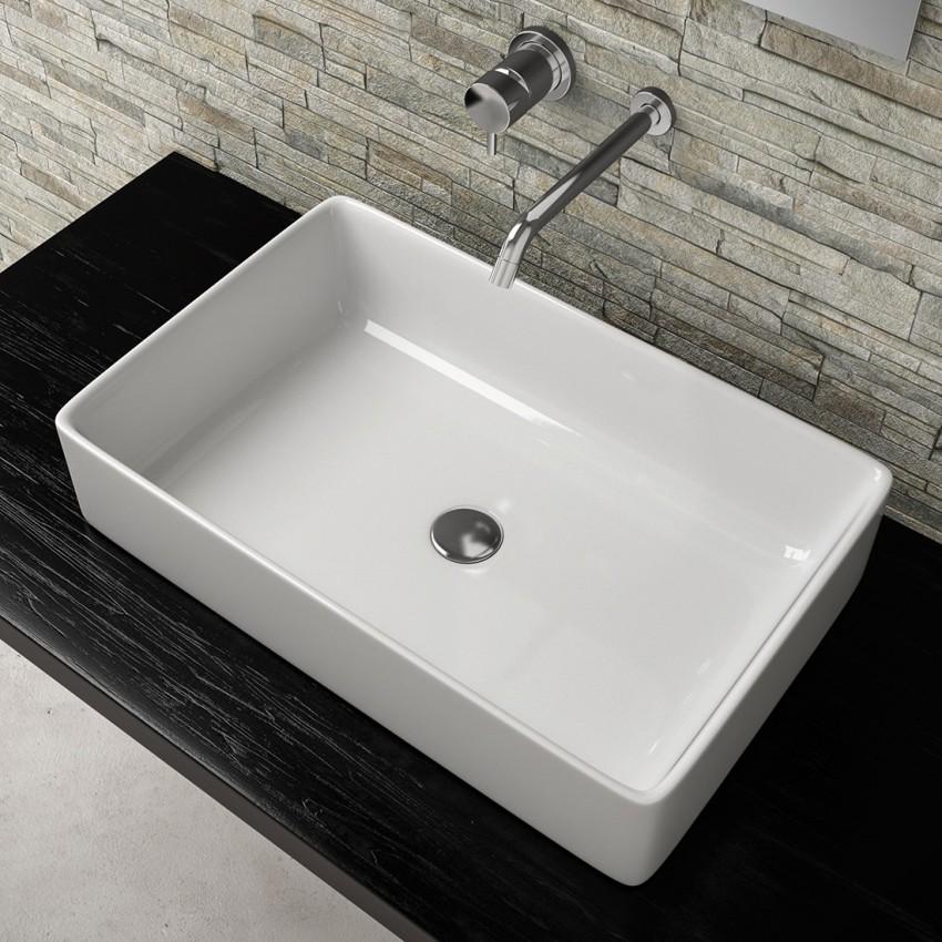 Lavandini rettangolari bagno, lavabi appoggio